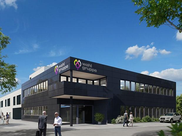 Bürogebäude mit Lagerhalle