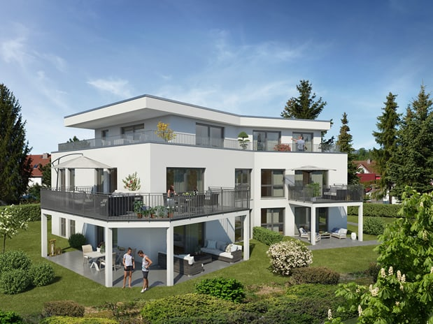 2 Mehrfamilienhäuser mit Tiefgarage