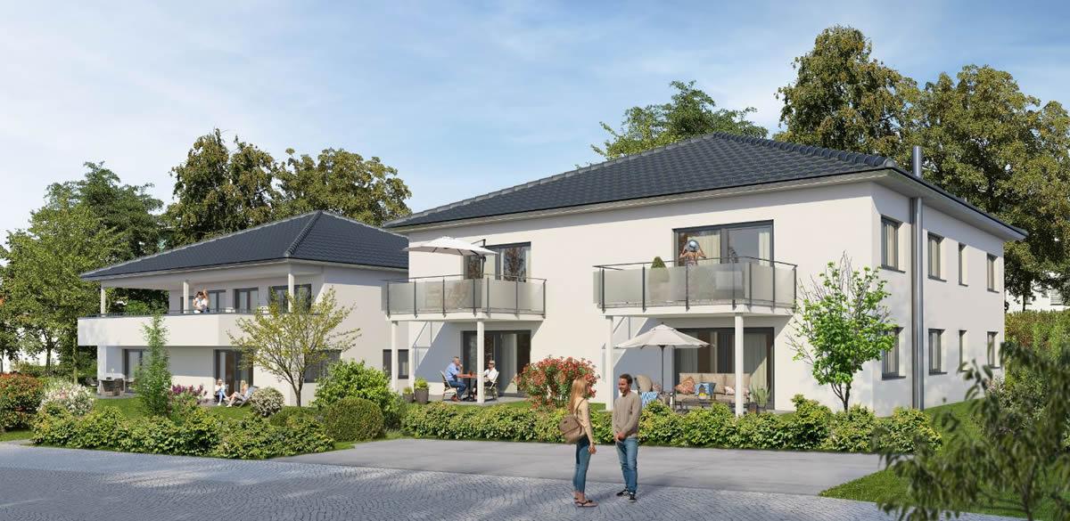 2 Mehrfamilienhäuser mit Tiefgarage Projekt 2